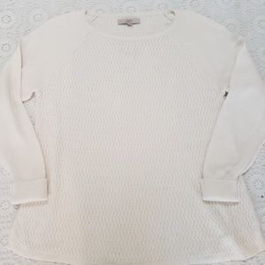 LOFT Sweaters - NWT LOFT Sweater, Cream, Sz XL